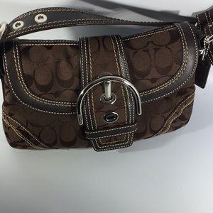 Signature Chocolate Coach Handbag